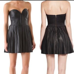 Parker strapless real soft leather dress